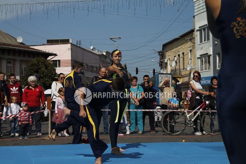 У центрі Мукачева влаштували показові бої