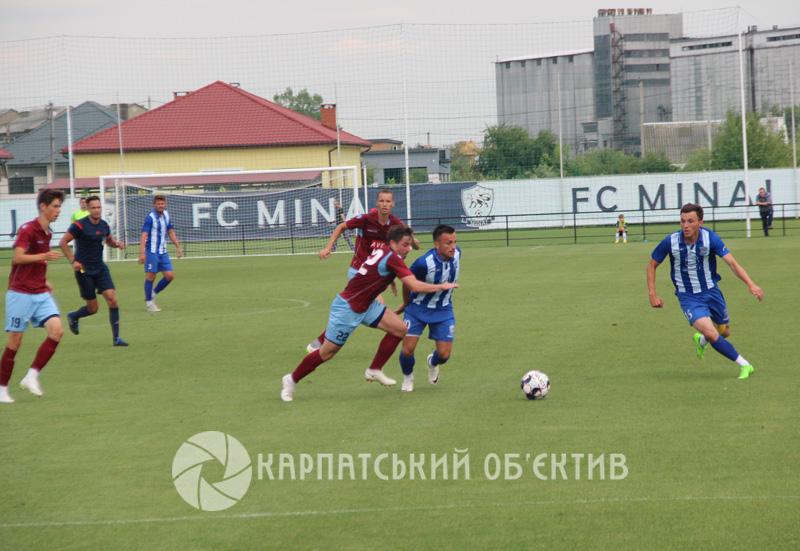 У закарпатському футбольному дербі переміг «Минай». ФОТО