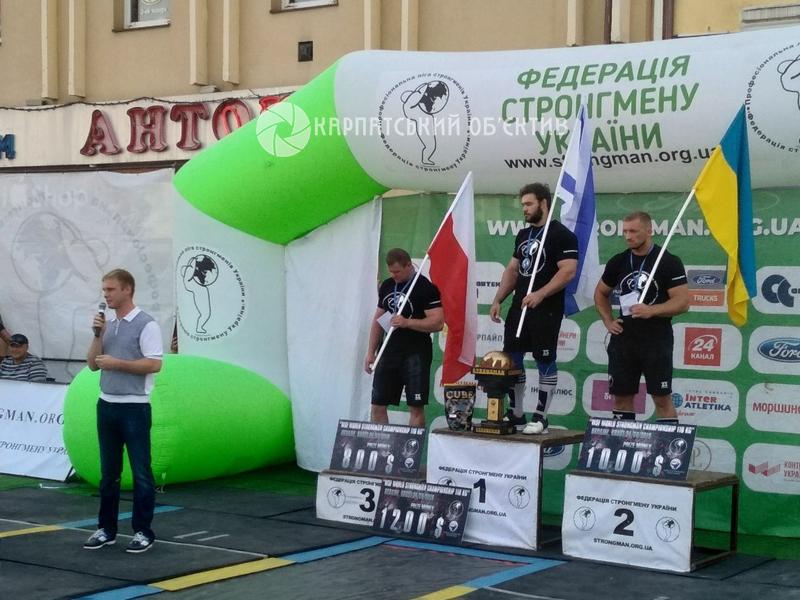 Чемпіонат світу зі стронгмену в Хусті: церемонія нагородження переможців. ФОТО